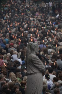 20000 at memorial - In memory of the massacre victims. Photograph by jkfjellestad